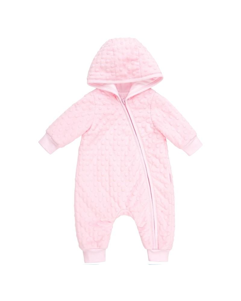 Gefütterter Baby-Overall  Bembi  62-68 | rosa