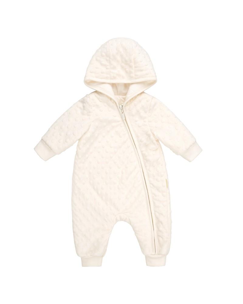 Gefütterter Baby-Overall  Bembi  62-68 | elfenbeinfarben