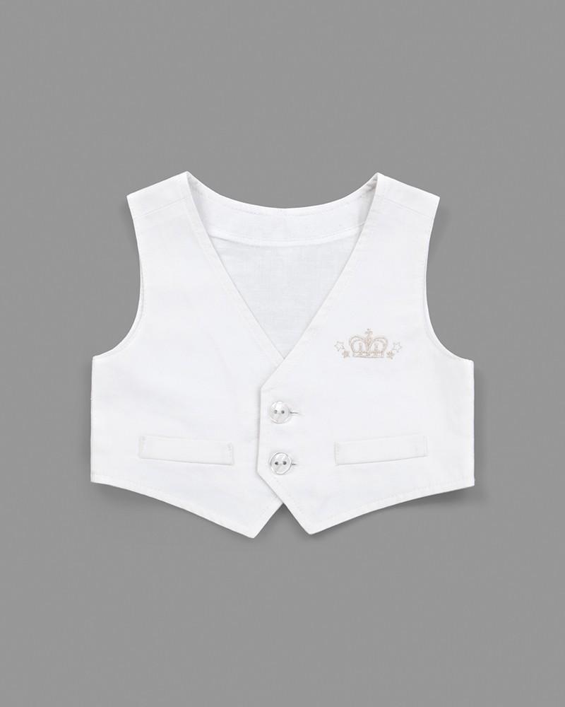 Anzug-Set für Baby Jungen - Taufanzug in weiß - Taufe ...